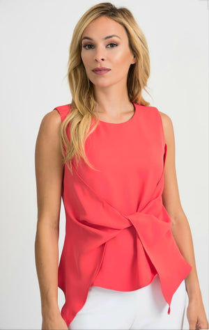 Joseph Ribkoff Sleeveless Asymmetric Top