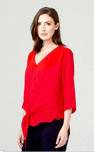 Joseph Ribkoff 3/4 Sleeves Nut In The Front Blouse