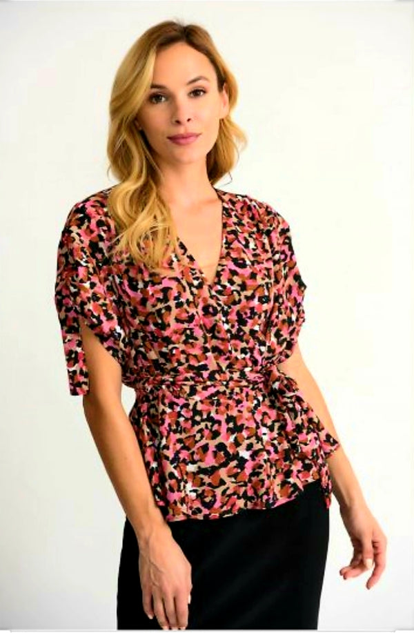 Joseph Ribkoff Short Sleeves V Neck Blouse