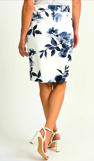 Joseph Ribkoff Flower Pencil Skirt