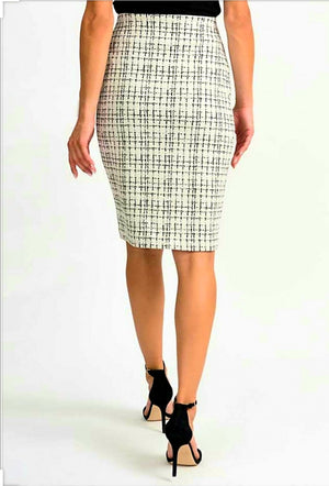 Joseph Ribkoff Pencil With Square Prints Knee Lenght Skirt