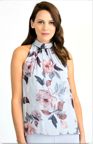 Joseph Ribkoff Round Neck Sleeveless Floral Top