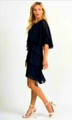 Joseph Ribkoff Long Sleeves Knee Length Dress