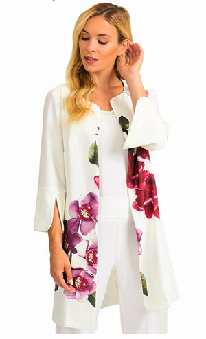 Joseph Ribkoff Floral Open Sleeves Coat