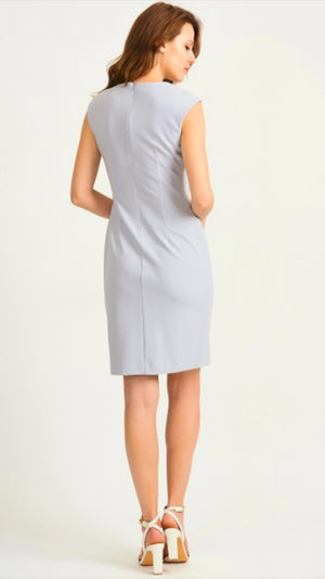 Joseph Ribkoff Sleeveless Square Neck Knee Length Dress