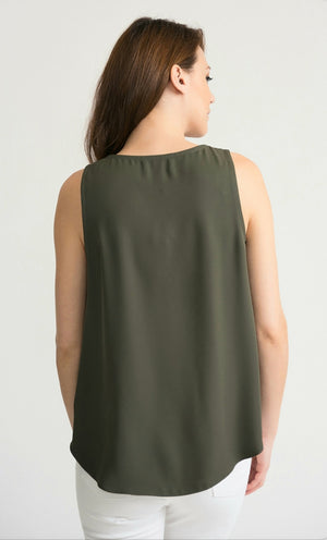 Joseph Ribkoff Sleeveless Asymmetric Flawless Top
