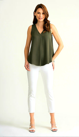 Joseph Ribkoff Sleeveless Assymetrick Flawless Top