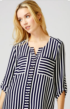 Joseph Ribkoff Long Sleeves Strippes Blouse
