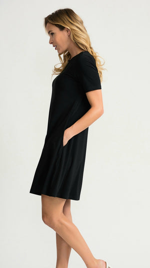 Joseph Ribkoff Short Sleeves Short Assymetric Dress