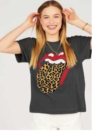 Daydreamer Rolling Stones Leopard Tongue Tour Tee Vintage Shirt