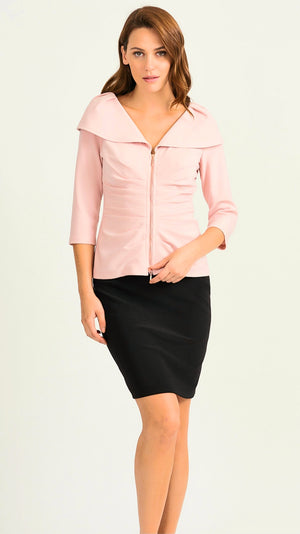 Joseph Ribkoff Zipper Front Long Sleeves Jacket