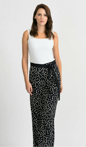 Joseph Ribkoff Polka Dot Belt Pants