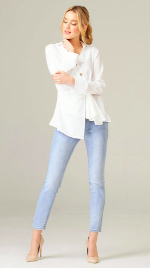Joseph Ribkoff Long Sleeves V Neck Blouse