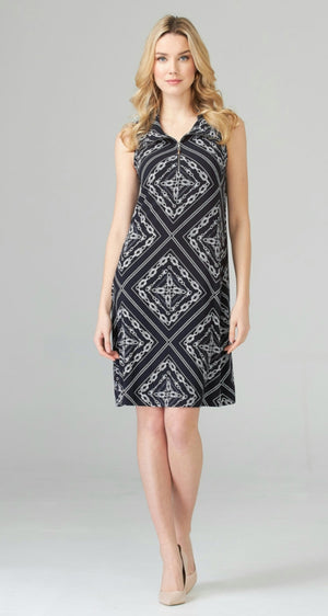 Joseph Ribkoff Sleeveless Front Zipper Dress