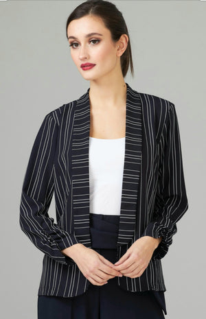 Joseph Ribkoff Long Sleeves Stripes Full Blazer