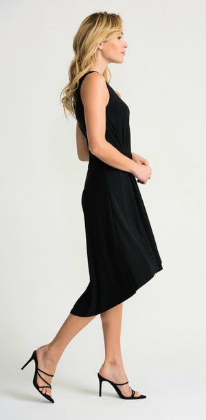 Joseph Ribkoff Sleeveless Round Neck Asymmetric Bottom Dress