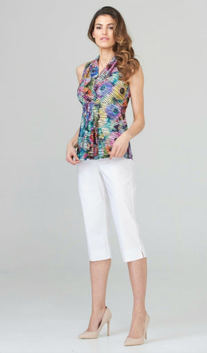Joseph Ribkoff Sleeveless Multicolor Top