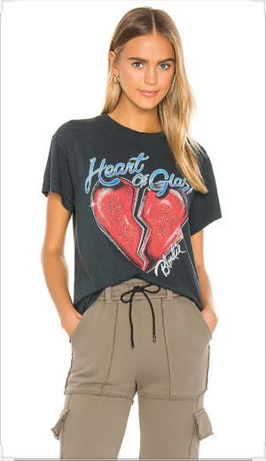 Daydreamer Blondie Heart Of Glass Tour Tee Vintage Black Shirt