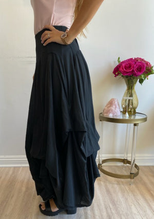 Luna Luz Fashion Long Skirt W/Ties