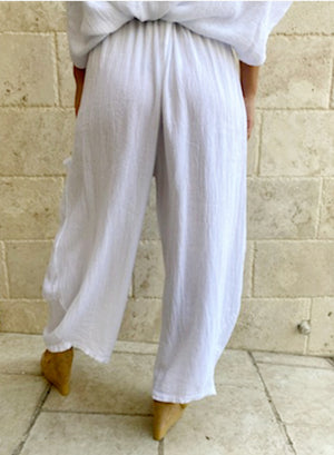 Papillon Front Pockets Oversize Pants