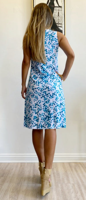 Whimsy Rose Teal Pome Sleeveless Dress