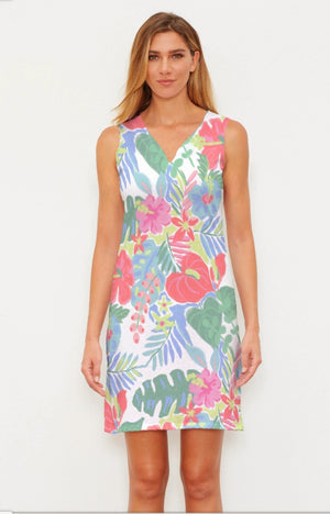 Whimsy Rose Hawaiian Fling Classic Sleeveless Dress