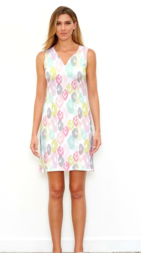 Whimsy Rose Sleeveless Abstract Dress