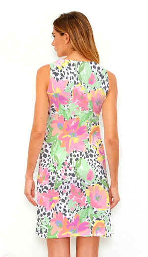 Whimsy Rose Spring Leopard Sleeveless Dress