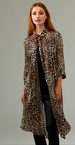 Joseph Ribkoff Long Sleeves Long Leopard Tunic