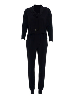 Joseph Ribkoff Front Pockets Long Sleeves Round Neck Jumpsuit
