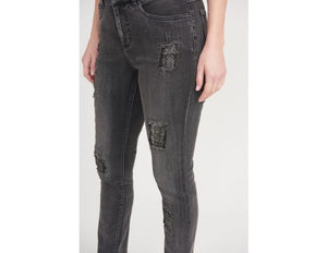 Joseph Ribkoff Distressed Details Elevated Denim Jeans