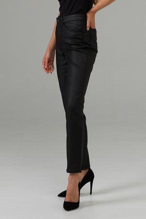 Joseph Ribkoff Faux Leather Striking Bottom Pants