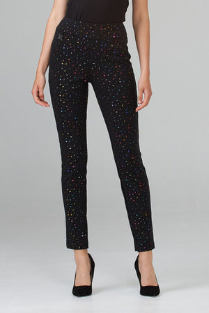 Joseph Ribkoff Bedazzled Printed Multicolor Pants