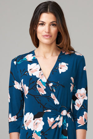 Joseph Ribkoff 3/4 Sleeves V Neck Floral Dress