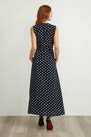 Joseph Ribkoff Sleeveless Polkadot Long Dress