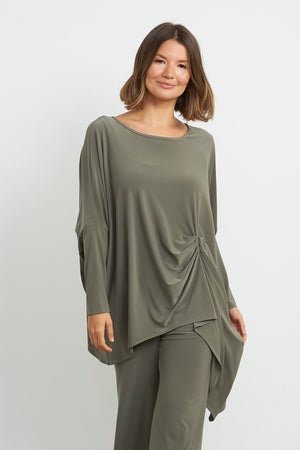 Joseph Ribkoff Hi Low Tunic Top with Gathered Front