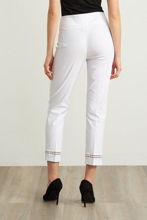 Joseph Ribkoff Cut-Out Bottom Detail Capris