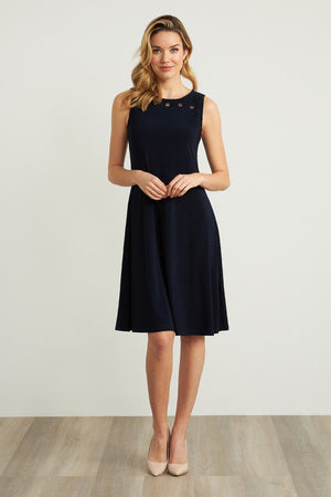 Joseph Ribkoff A-Line Dress with Grommet Detailing