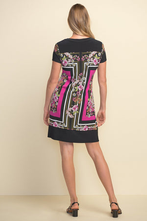 Joseph Ribkoff V Neck Short Sleeve Short Lenght Dress