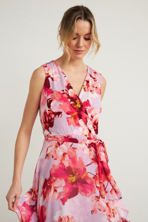 Joseph Ribkoff Floral Faux Wrap Dress