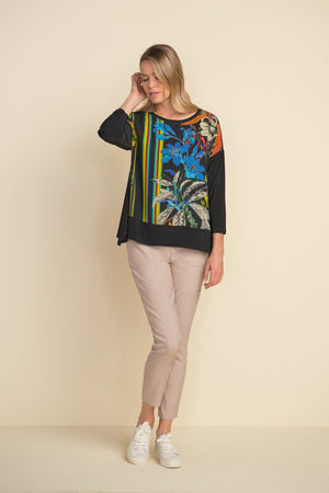 Joseph Ribkoff Floral 3/4 Sleeve Top