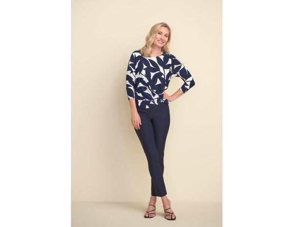 Joseph Ribkoff Long Sleeves Round Neck Blouse