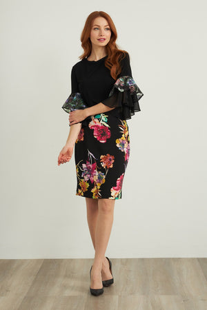 Joseph Ribkoff Knee Length Multicolor Skirt