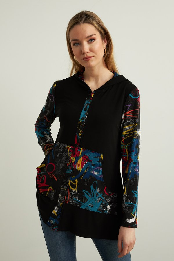 Joseph Ribkoff Long Sleeve Multicolor Print Blouse