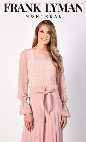Frank Lyman Dark Blush Romantic Top