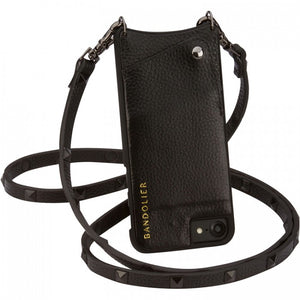BANDOLIER SARAH BLACK STUDS  iPHONE 6/7/8