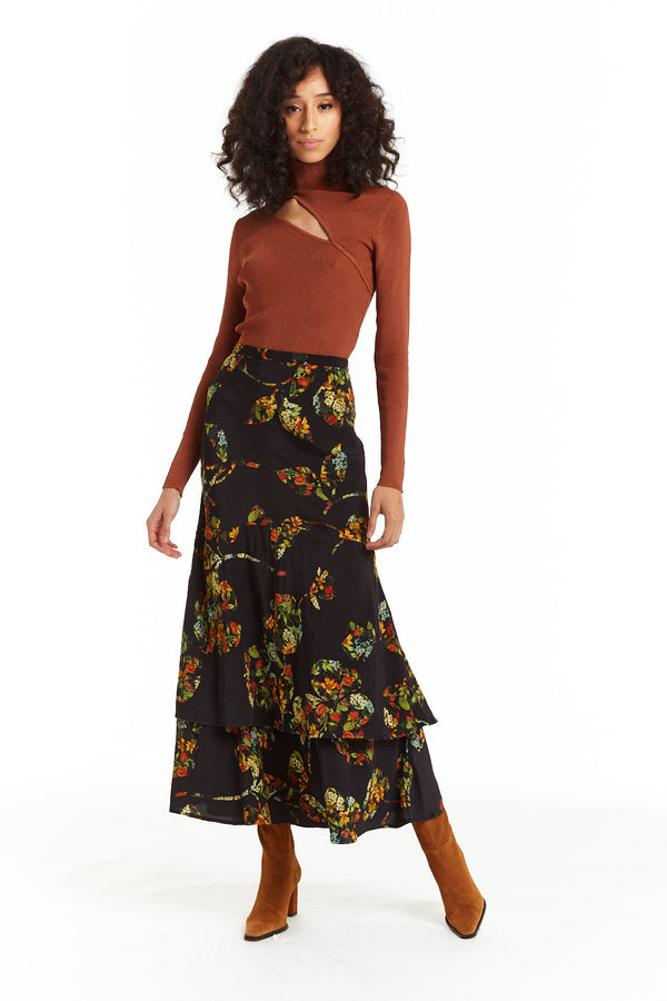 Supernatural Floral Ruffle Skirt