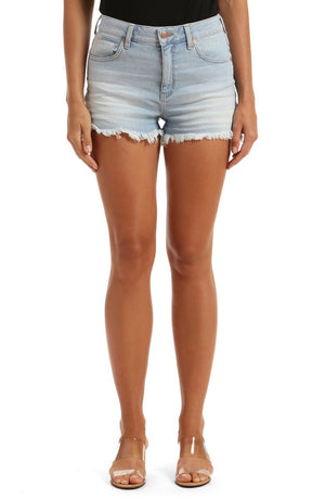 Mavi Jeans Rosie Bleached High Rise Denim Shorts