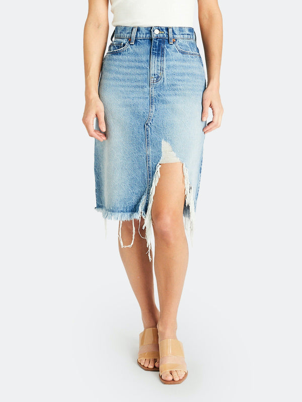 Etica Johanna Distressed Denim Skirt