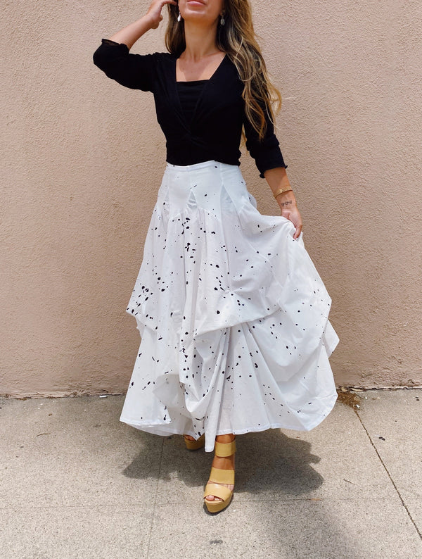 Luna Luz Fashion Long Skirt W/Ties-Tie Dye